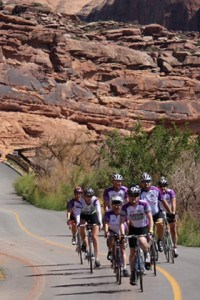 At the front of the pact in Moab.
